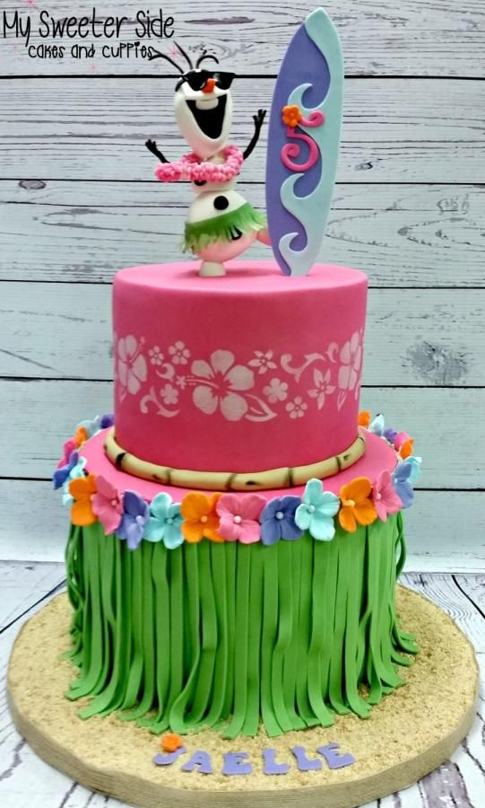 Hula Olaf - Cake by Pam from My Sweeter Side