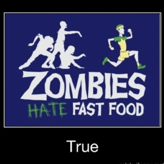 Via ifunnyFit Quotes, Hate Fast, Zombies Apocalypse, Walks Dead, Running Faster, Zombies Hate, Fast Food, Funny Shirts, Fast Foods