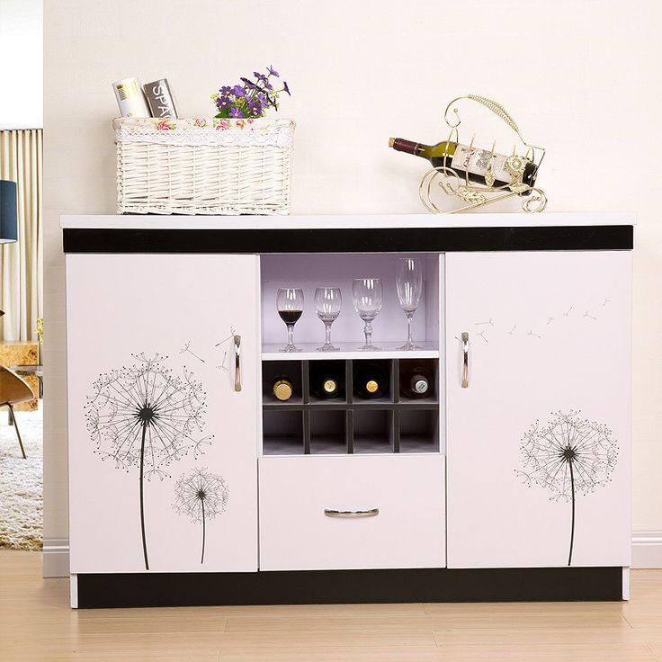 Simple home sideboard resistant paint lockers modern kitchen cupboards Wine storage cabinets Sideboard tea