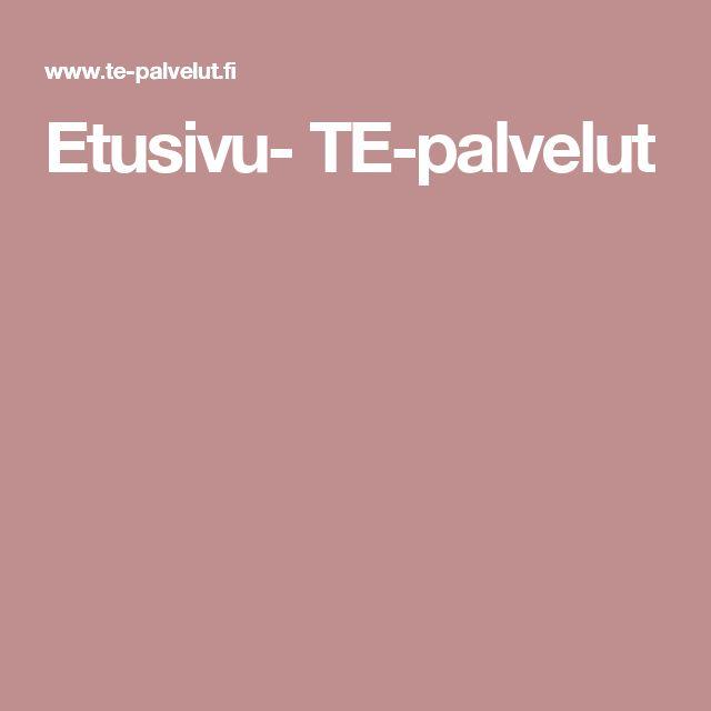 Etusivu- TE-palvelut