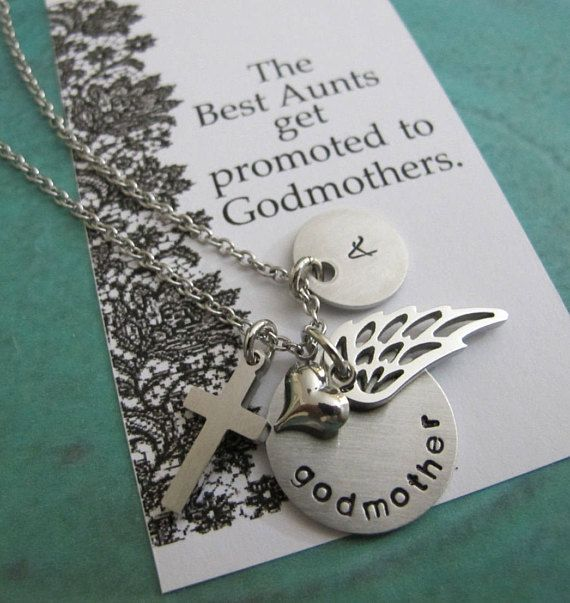 Godmother Necklace  Godmother Gift  Personalized Godmother