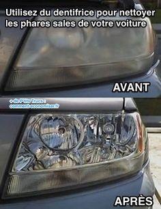 Utilisez du dentifrice pour nettoyer les phares sales de votre voiture