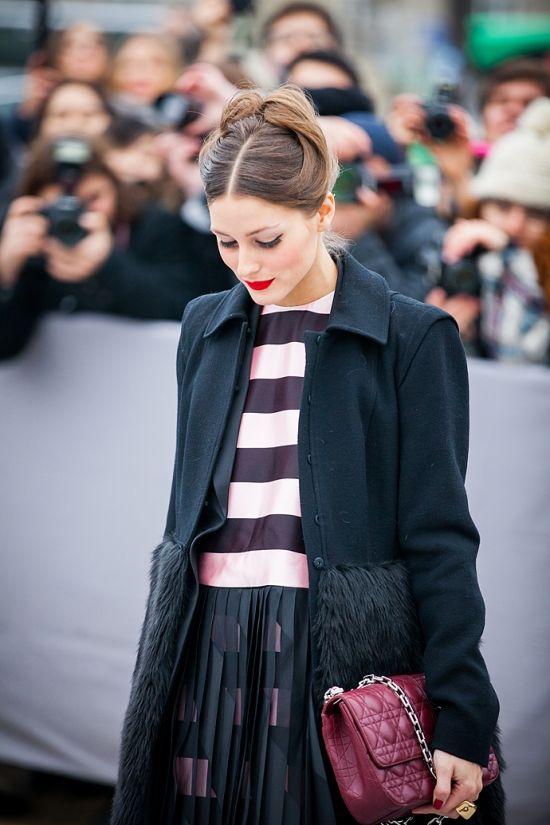 Ourvanityaffair Olivia Palermo Paris Fashion Week Street Style Style Pinterest Chevron
