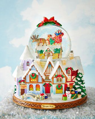 Up On the House Top! Snowglobe by Christopher Radko at Neiman Marcus.