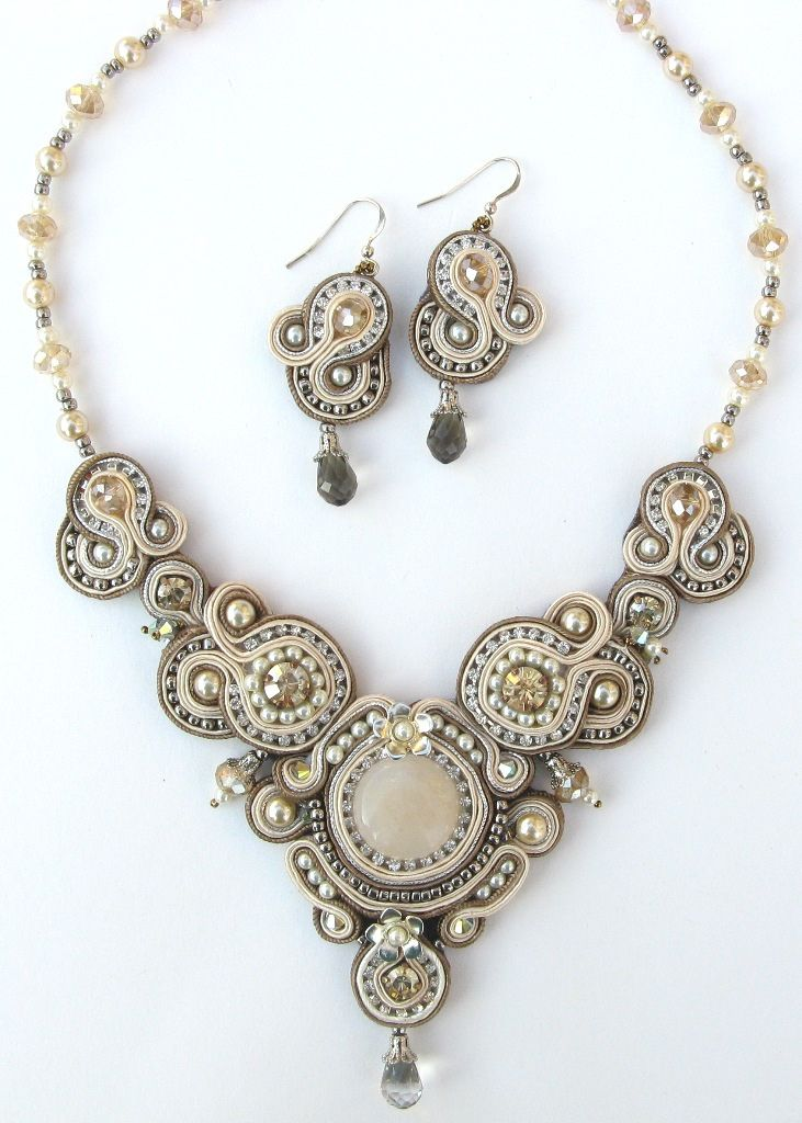 Crystal Regalia, earrings and necklace | New soutache piece | Von: Cielo Design | Flickr - Photo Sharing!