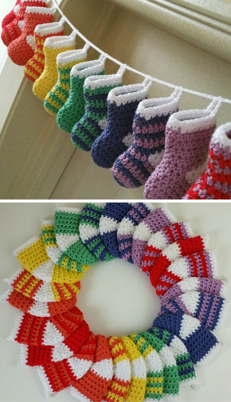 How To Crochet A Mini Stocking Advent - free crochet pattern