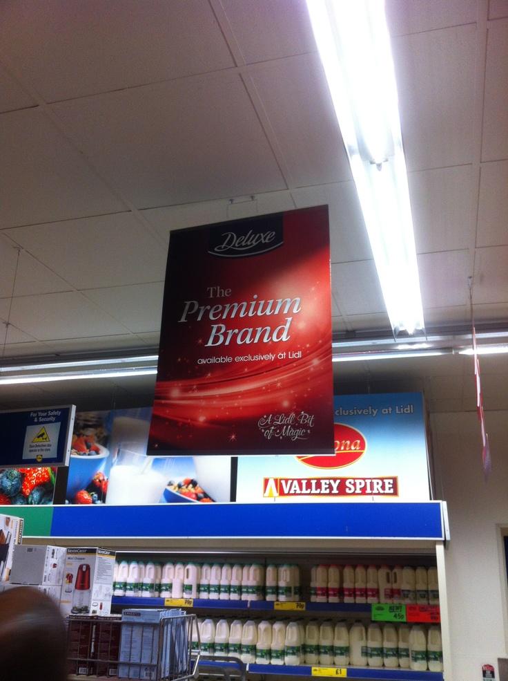 Premium brand signage