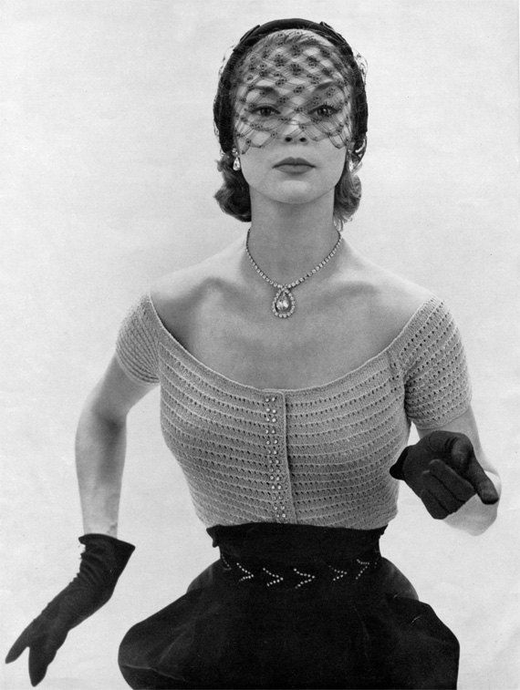 1950s Rhinestone Evening Blouse - Vintage Knitting Pattern - PDF eBook. $4.99, via Etsy.