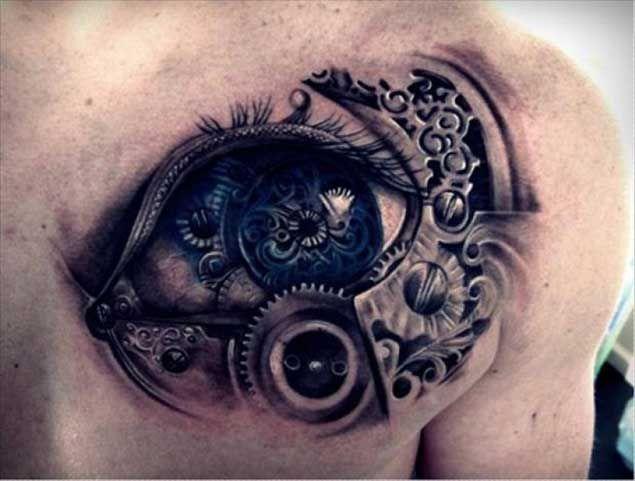 Steampunk Inspired Eye Tattoo