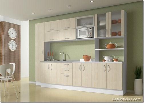 fotos de gabinetes de cocina sencillos
