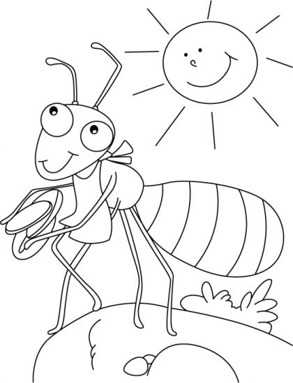 Ant coloring page | Download Free Ant coloring page for kids | Best Coloring Pages