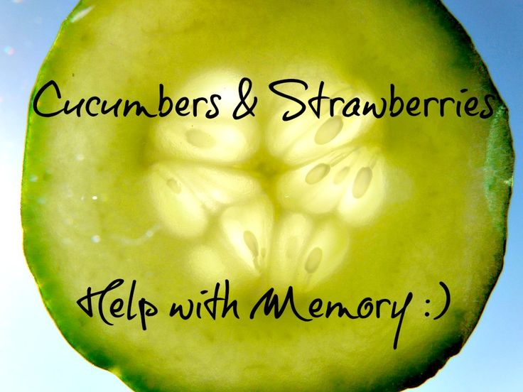 Powerful Nutrient In Cucumbers Prevents Memory Loss...I'm heading out to plant Cucumbers!!