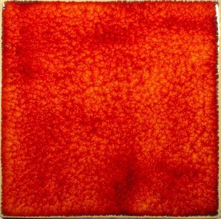 Handmade Wall Tile  - Flaming Orange