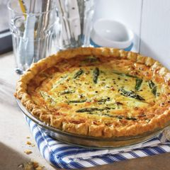 The perfect weekend recipe for spring: Leek & Asparagus Tart!
