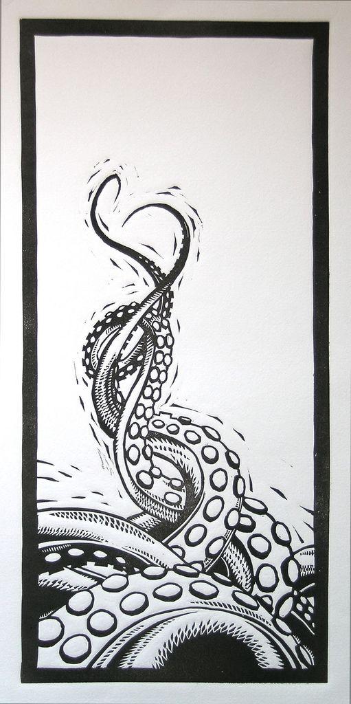 Linoleo de tentáculos. (via A Montero)