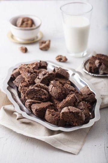 #czekoladowe #biscotti z figami i solą #chocolate #salt #cookies #ciasteczka #delektujemy