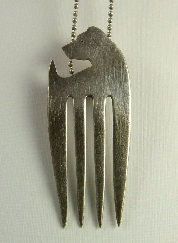 FernandoThe Fork Dog Up Cycled Sterling Silver And by robinwade, $103.00