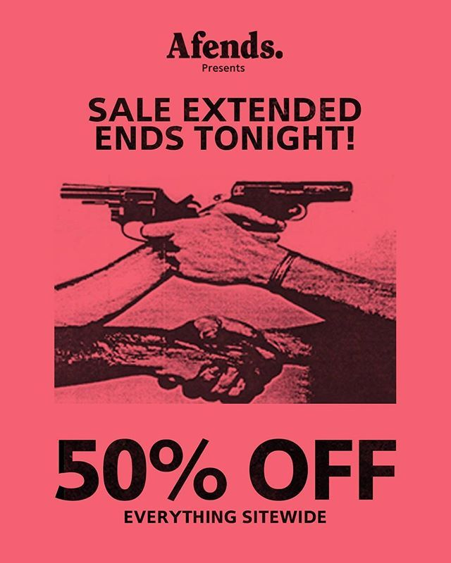 We've extended the sale for one more day!! This is your last chance! Go go go! Ends midnight tonight! #afends