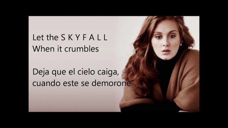 Skyfall adele Letra ingles - español
