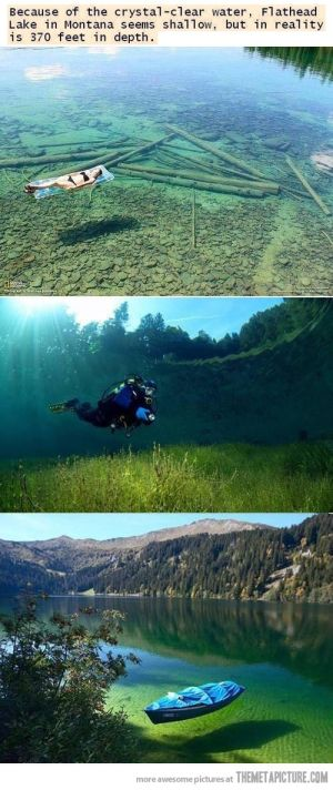 Flathead Lake Montana Transparent | cool-Flathead-lake-montana-crystal-clear by echkbet
