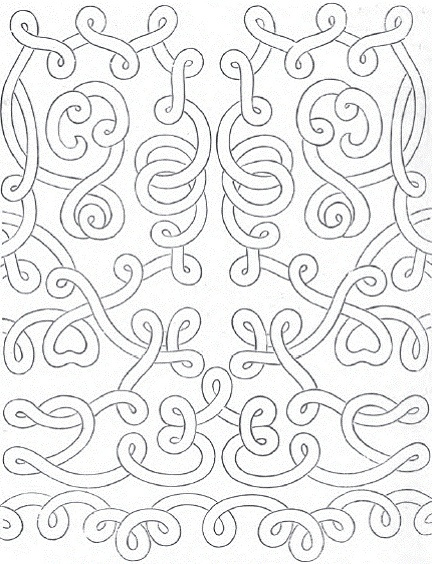 Lace pattern from Santa Margherita Church, produced in 1592.