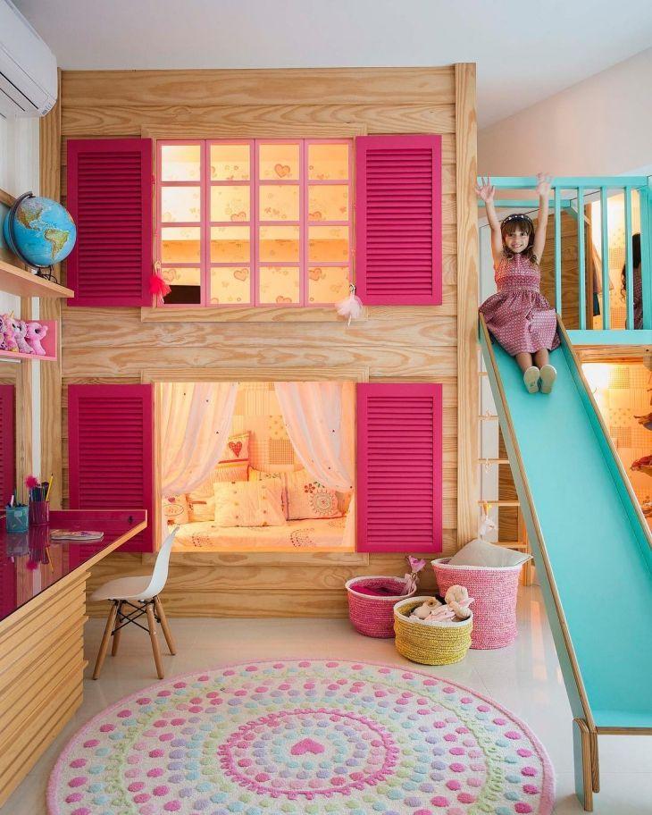 25 melhores ideias de camas infantis no pinterest design de cama de crian a camas para - Camas en forma de casa ...
