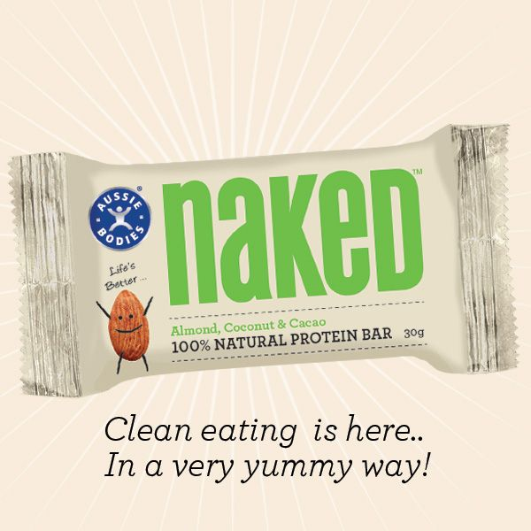 Get pumped. Get naked. NEW. 100% Natural Protein Bar. Life's better naked.Available now at Woolworths.