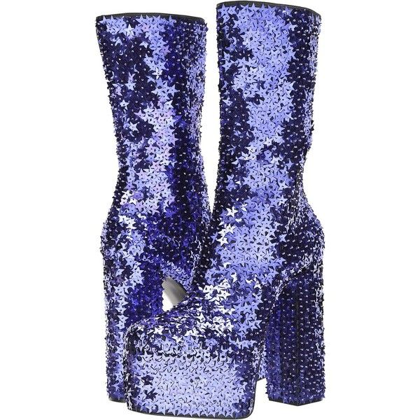 DSQUARED2 Queen Boot (Viola) Men's Boots ($1,265) ❤ liked on Polyvore featuring men's fashion, men's shoes, men's boots, purple, mens boots, mens neon shoes, mens round toe shoes, g star mens shoes and mens platform shoes