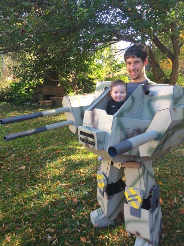 diy dad warrior halloween costume