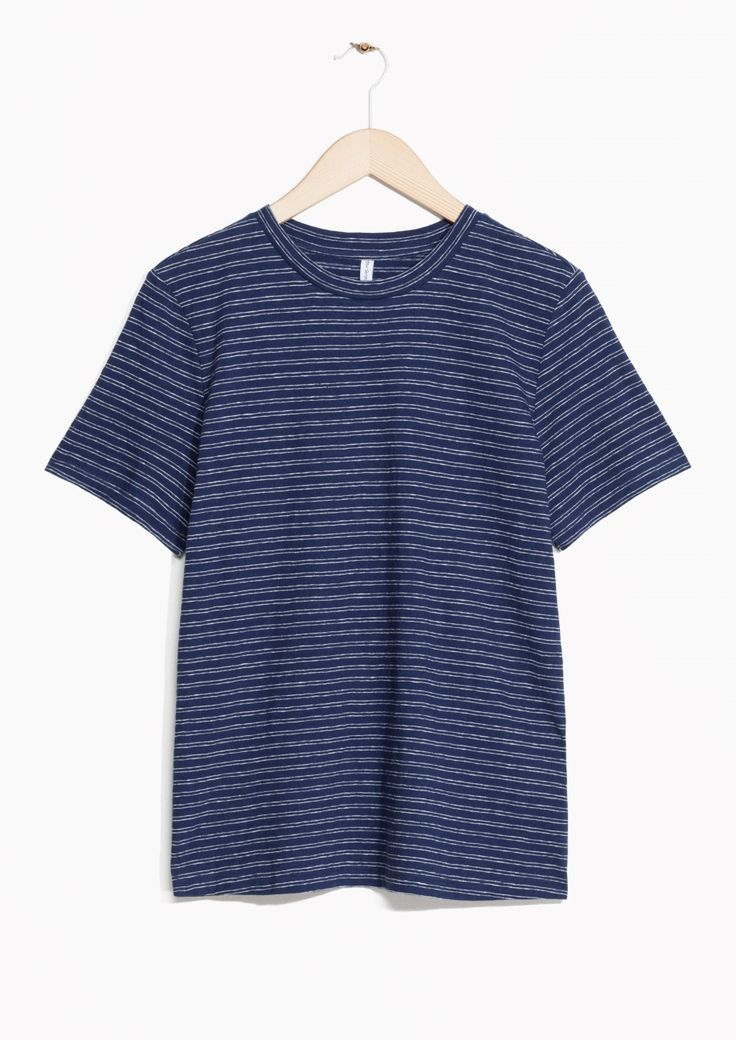 & Other Stories | Striped Linen Blend Tee