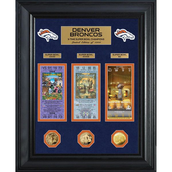 Denver Broncos Highland Mint Super Bowl 50 Champions Deluxe Coin & Ticket Collection - $149.99