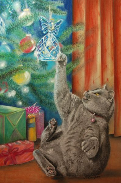 This was the Christmas Card that I designed for Haworth Cat Rescue for Xmas 2011