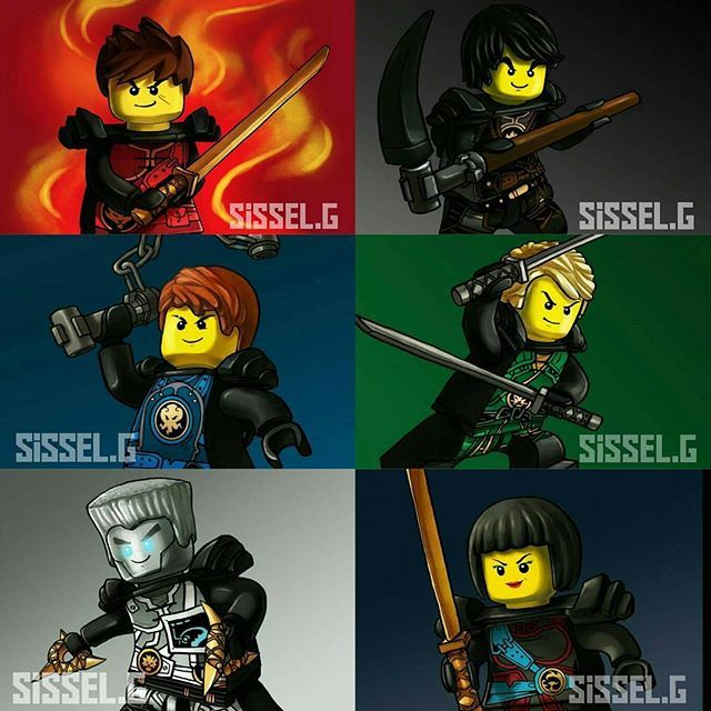 The ninjas are back with a new outfits Credit to @sissel.g You should check out her page!! #lego #ninjago#legoninjago