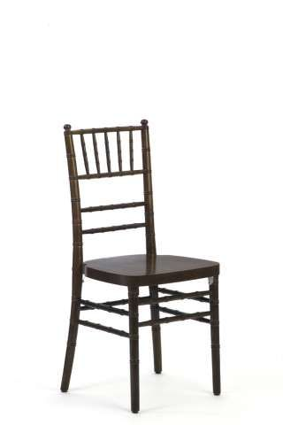 Walnut Chiavari Chairs with White Chair Pads (not included in picture)