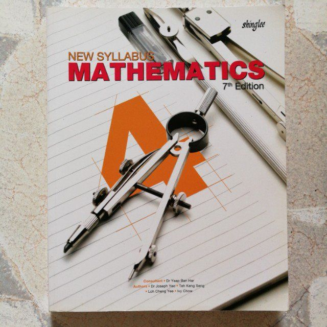 Sec 4 express e maths textbook Condition: 9.9/10 As good as new, only a few markings in pencilRetail price: $24.40