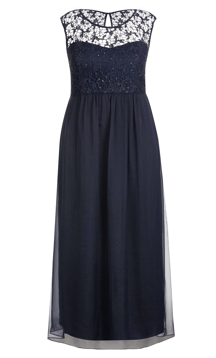 City Chic - SPARKLE LOVE MAXI DRESS - Women's Plus Size Fashion