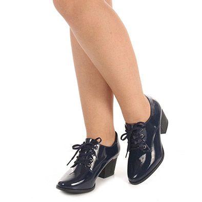 Sapato Oxford Feminino Lara - Marinho