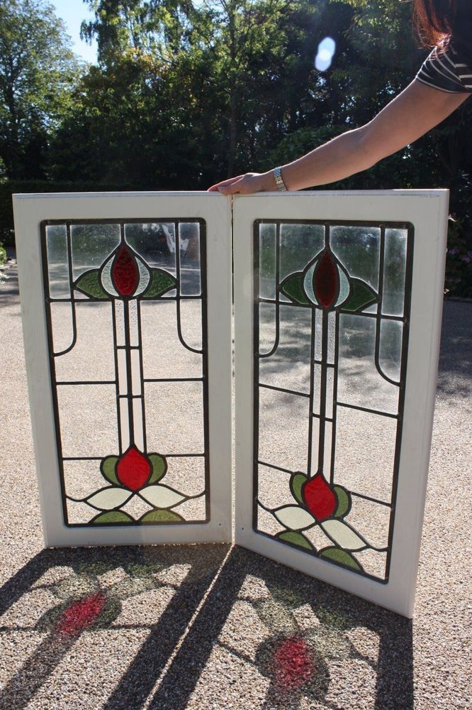 STAINED GLASS LEAD LIGHT PANELS