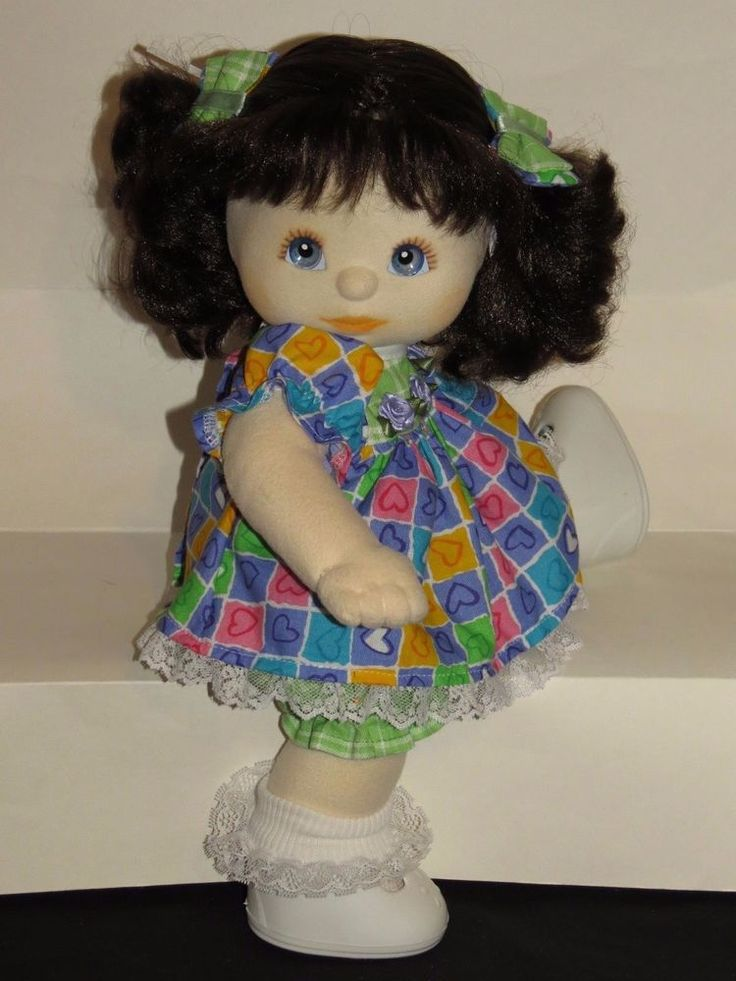 MY CHILD DOLL CUTIE BRUNETTE BLUE EYES BROWN/PEACH MAKEUP DRESSED (ITEM INSURED) #DollswithClothingAccessories