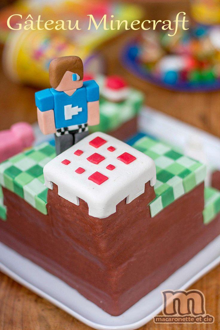 G¢teau Minecraft Macaronette et cie