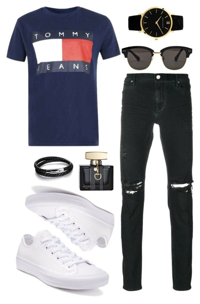 """Men's Casual Style"" by saffaatun on Polyvore featuring RtA, Larsson & Jennings, Gentle Monster, Converse, Gucci, N'Damus, men's fashion and menswear"