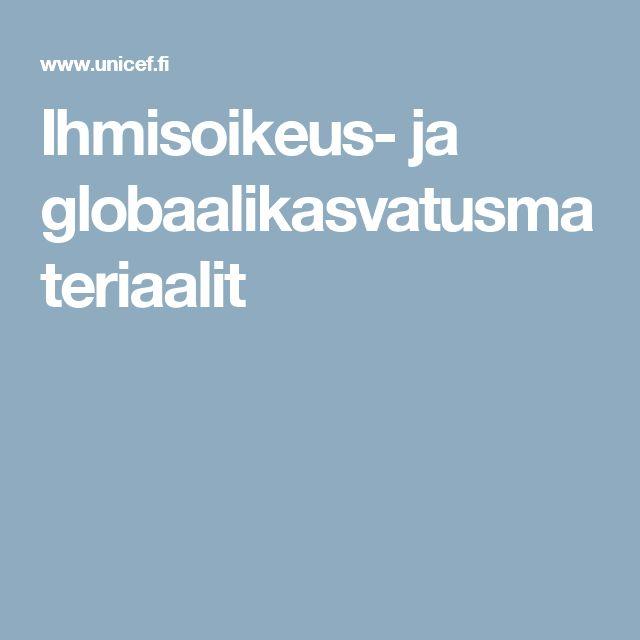 Ihmisoikeus- ja globaalikasvatusmateriaalit