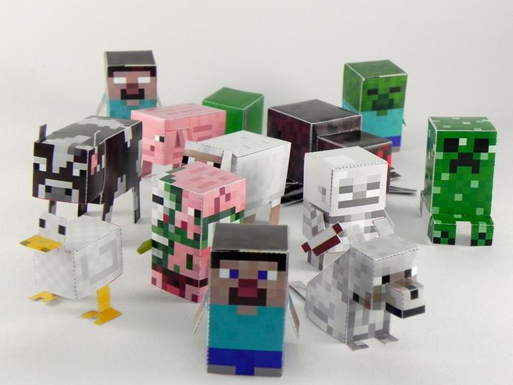 Awesome Minecraft paper crafts - any of your kids obsessed?