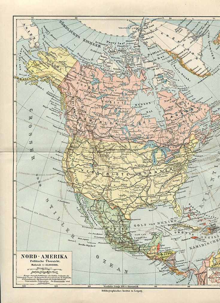 The 25 best vintage map decor ideas on pinterest map vintage map north america gumiabroncs Images