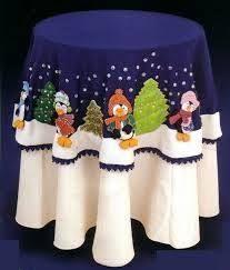 Resultado de imagen para mantel navideño para mesa redonda