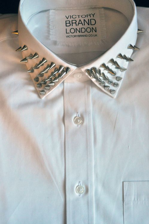 Spikes..: Studs Collars, Style, Studs Shirts, Clothing, Men Fashion, New Fashion, Buttons, Diy Projects, Collars Shirts