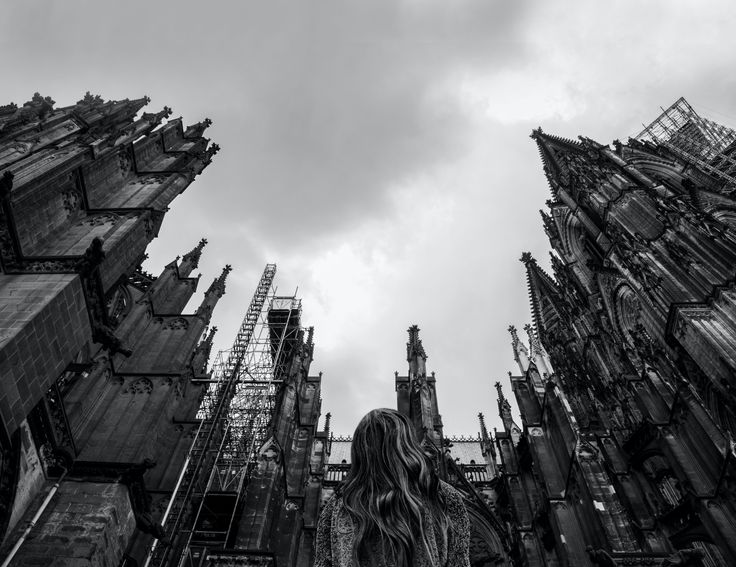 #photography #lighting #shutter #shoot #photographer #bw #blackandwhite #cathedral #cologne #germany #sinister #view #architecture #dramatic #clouds