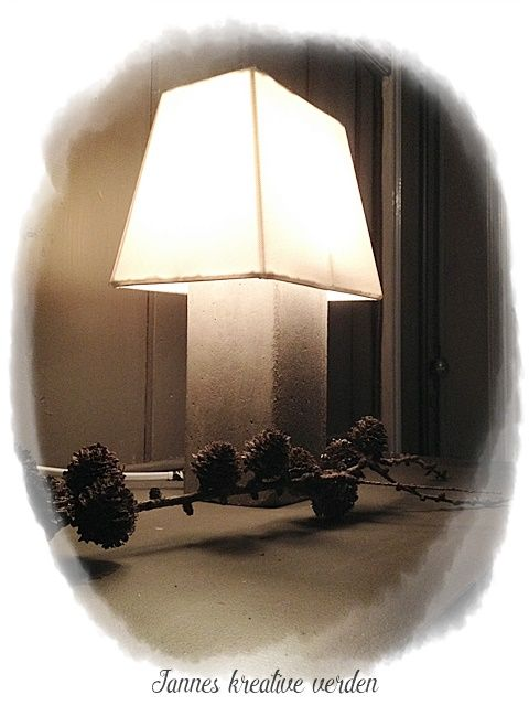Jannes kreative verden: DIY - Betonglampe
