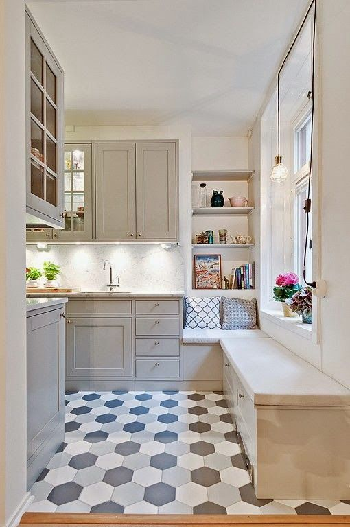 W domu Marty Szara kuchnia niczym z bajki  Pomysły do   -> Tapeta Samoprzylepna Kuchnia