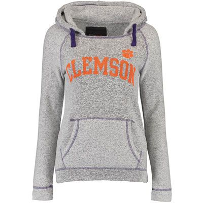 Clemson Tigers Women's Horizon French Terry Hoodie - Gray